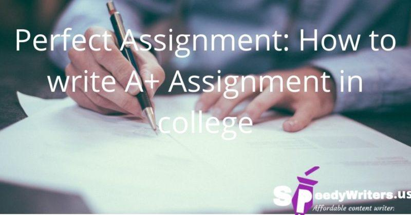 Perfect Assignment: How to write A+ Assignment in college
