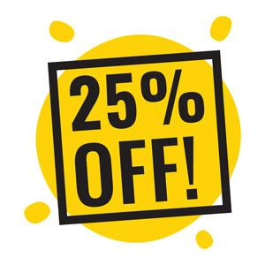 25 percent discount for first order for essay